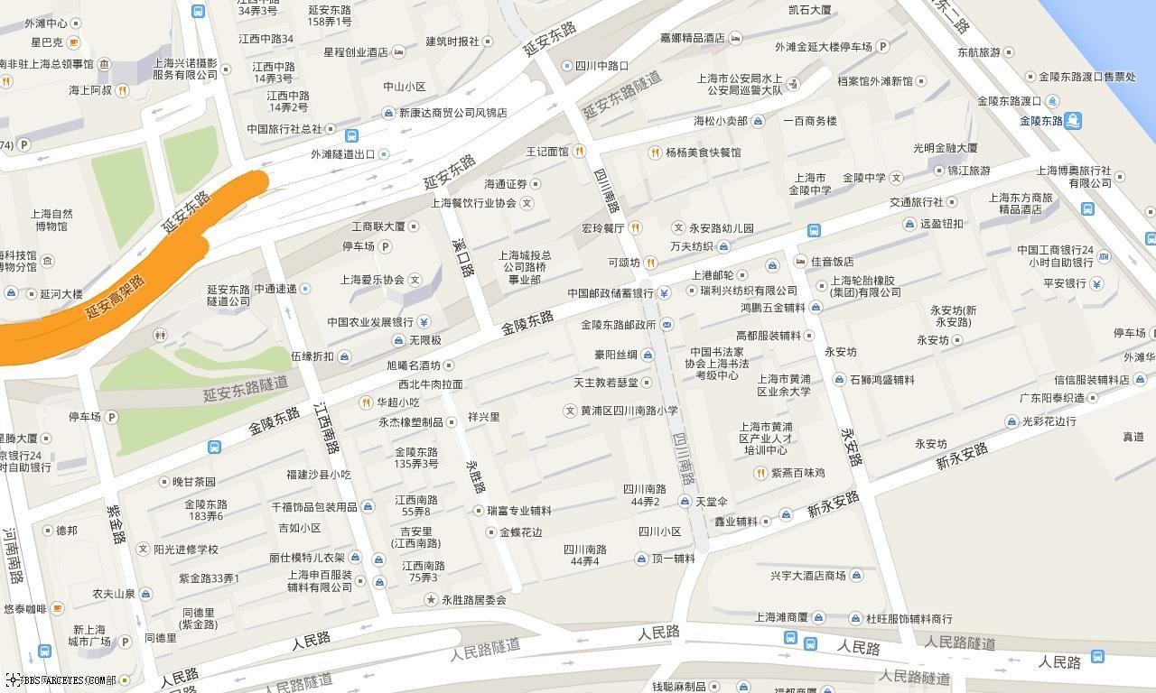 上海电子地图 来自百度电子地图库