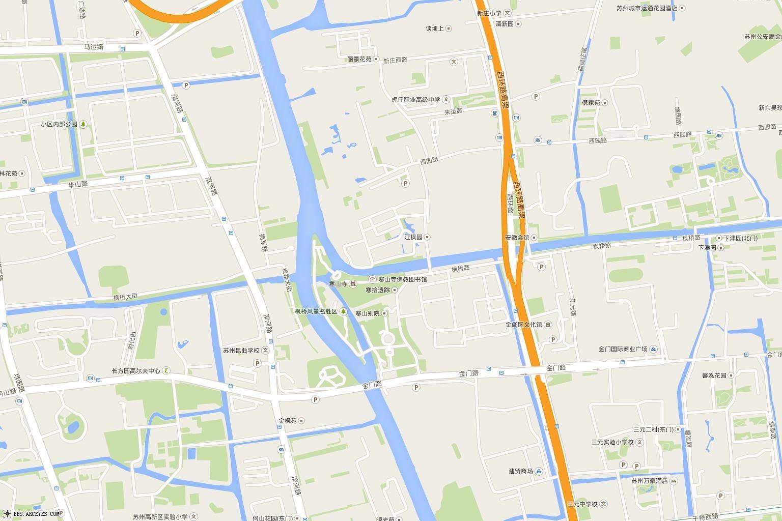 苏州电子地图_谷歌地图