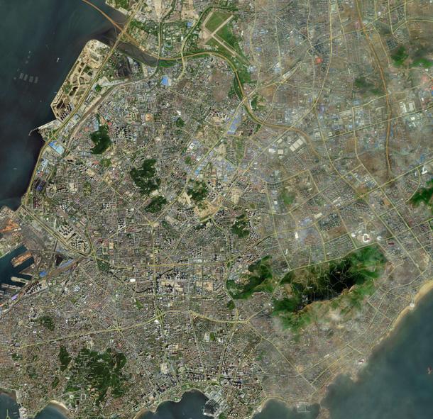 青岛卫星地图